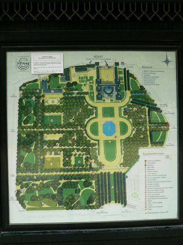 Le Jardin du Luxembourg: Plan du Jardin du Luxembourg 016